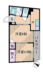神奈川県横浜市港北区日吉本町1丁目の賃貸マンションの間取り