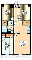 ルミエール2 6階3LDKの間取り