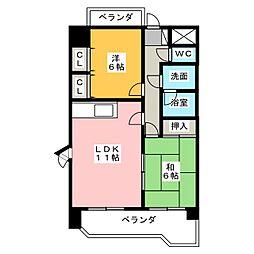 リーブル原Ⅱ[7階]の間取り