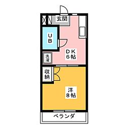 フラッツITO[1階]の間取り