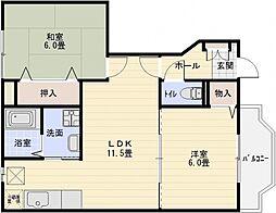 アルティナガーデン[1階]の間取り