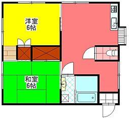 宮崎県小林市大字水流迫の賃貸アパートの間取り