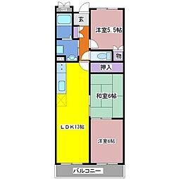 パークサイドビル[3階]の間取り