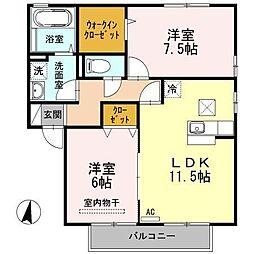 セジュール幸[2階]の間取り