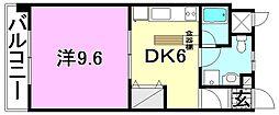 シェレナ朝生田[605 号室号室]の間取り