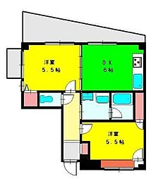神奈川県横浜市西区藤棚町2丁目の賃貸マンションの間取り