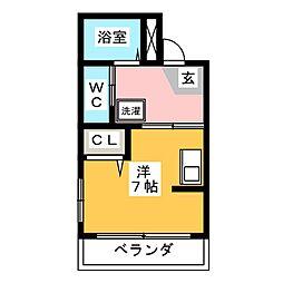 プリマベ−ラ[1階]の間取り