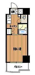 東京都品川区大井2丁目の賃貸マンションの間取り