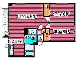 北海道札幌市東区北丘珠四条1丁目の賃貸マンションの間取り
