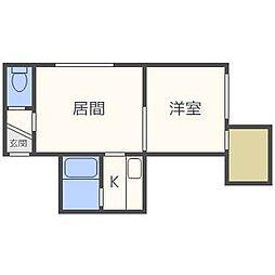 ゾンネブルーメI[3階]の間取り
