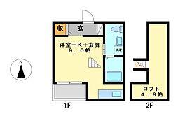 トレスI[2階]の間取り