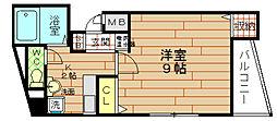 エイバー新野田[6階]の間取り