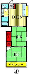 サンコーポ富士[1階]の間取り