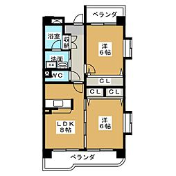 フリューリンク10[3階]の間取り