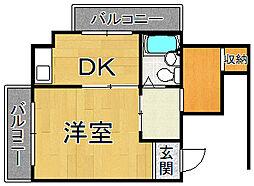 ハイツ桜ヶ丘2[2階]の間取り
