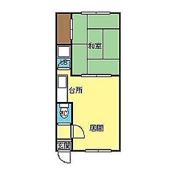 北海道札幌市豊平区平岸三条3丁目の賃貸アパートの間取り