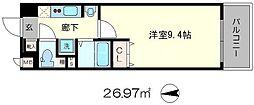 プレミアムステージ京大前[3階]の間取り