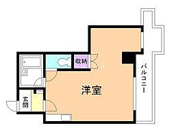 コスモ永山 10階ワンルームの間取り