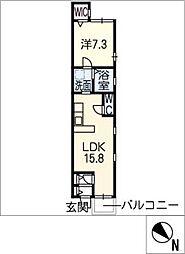アビターレ中村日赤[1階]の間取り