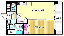 TOMODOAL北梅田[4階]の間取り
