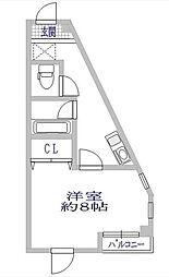エクセル新百合丘[2階]の間取り