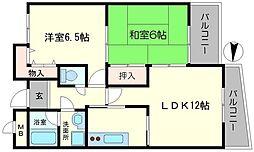 フレアコート京橋[4階]の間取り