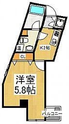 第十みずほ館[3階]の間取り