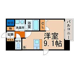 プレサンス名古屋STATIONビーフレックス[14階]の間取り