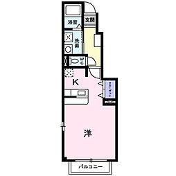ポラリス壱番館[1階]の間取り