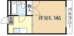 京都府宇治市伊勢田町中山の賃貸マンションの間取り