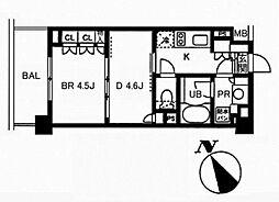レジディア池袋[2階]の間取り
