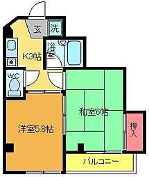 東京都葛飾区亀有4の賃貸マンションの間取り