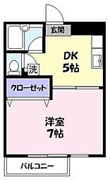 ラフェスタ旗ヶ崎[105号室]の間取り