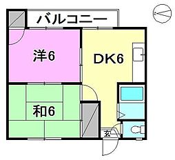 ローレンス小坂[402 号室号室]の間取り