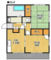 平田マンション[3階]の間取り