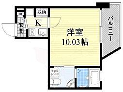 Osaka Metro御堂筋線 江坂駅 徒歩4分の賃貸マンション 11階1Kの間取り