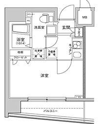 ハーモニーレジデンス東京イーストコア[7階]の間取り