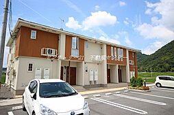 岡山県赤磐市小瀬木の賃貸アパートの外観