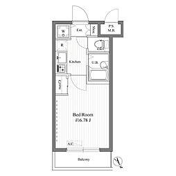 ハーモニーレジデンス東池袋ステーションフロント[0302号室]の間取り