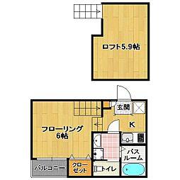 東区馬出 新築アパート[1階]の間取り