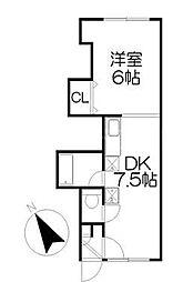 宮の森KTマンション[2階]の間取り