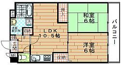 富士プラザ3[4階]の間取り
