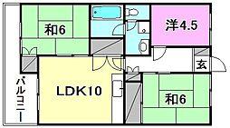 第1ハイツ永井[303 号室号室]の間取り