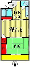 サンライズ石井[3階]の間取り