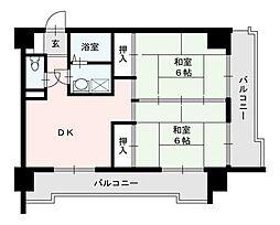 筑紫センタービル[3階]の間取り