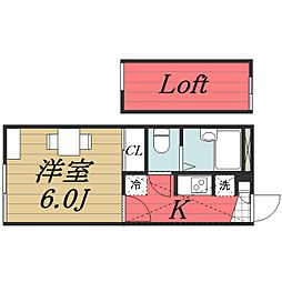 千葉県成田市東和田の賃貸アパートの間取り