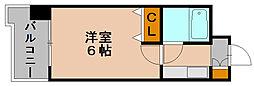 フォーラム博多駅南[6階]の間取り