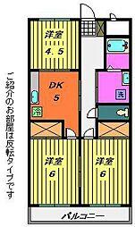 第1サニーハイツ[1階]の間取り