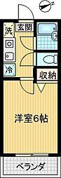 コスモライト[105号室]の間取り