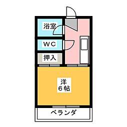 メゾン石ヶ根B[2階]の間取り